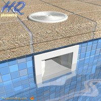 3d model pool skimmer 00
