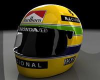 Ayrton Senna Helmet (Capacete)