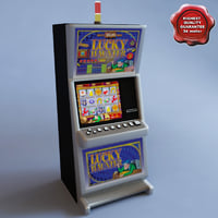 slot machine lucky haunter 3d model