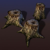 spooky stump 3d max