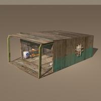arabic store 3d model
