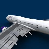 747-400 delta 3d model