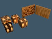 crates tablets 3d model