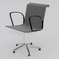 aluminium group chair 3d max