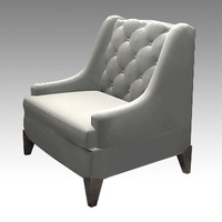 3d model of tufted chair vince