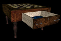 Chess Table with moving drawer in VRML-2