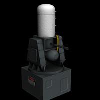 3d model ciws phalanx