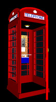 English Phone Booth with lighting and door motion