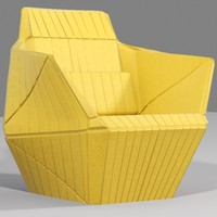 3d facet chair