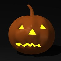 3ds haloween pumpkin