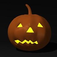 3ds haloween pumpkin