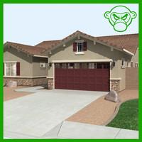house interior exterior 3d model
