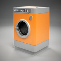 public laundry machine 3d model