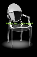 3d model louis ghost chair
