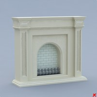 fireplace 3d dxf