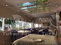 interior canteen 3d model
