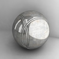 petanque ball 3d model