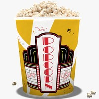3d pop corns model