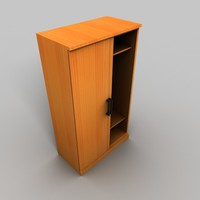 3d model slide door wardrobe