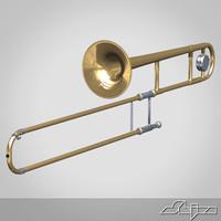 maya trombone instrument brass