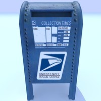 usps mailbox 3d dxf