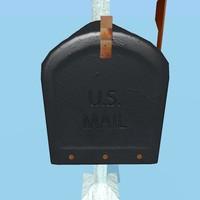 mailbox post 3d model