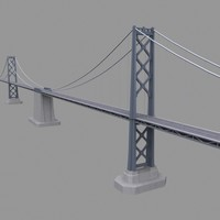 san francisco ca bay bridge 3d model