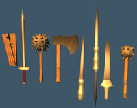 low poly weapons pack