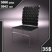 phantom leather chair 3d model