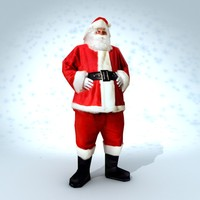 Santa (Low Poly but realistic)