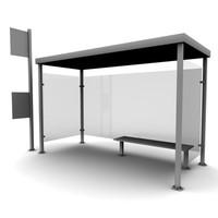 3d stop bus model