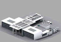 culture centre interior building 3d max