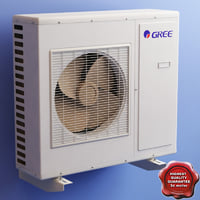 air conditioner gree 3d model