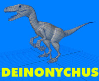 3d 3ds deinonychus styracosaurus velociraptor