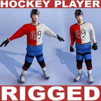 3d model hockey player rigged