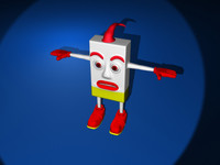 3ds max box character