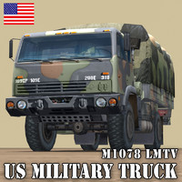 US.TRUCK CARGO M1078 LMTV WOODLAND COVER