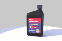 3d motor oil bottle