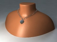 3d model tiffany necklace neck mount