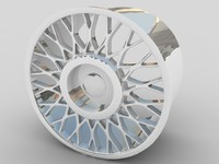 3ds max alloy car wheel