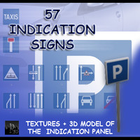 3d model indication signs 57