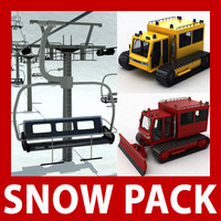 Snow Pack: Chair lift, snowcat and snowplow