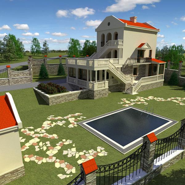 3d model villas vol3 for Villas 3d model