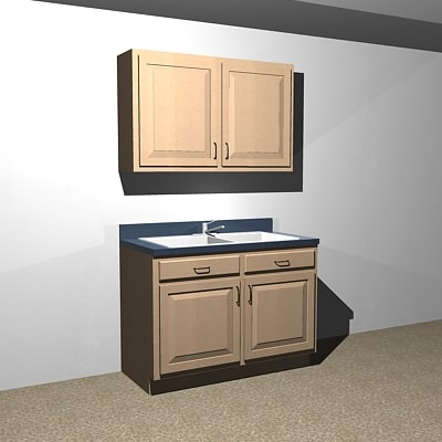 Kitchen cabinets 48 dxf for 48 sink base kitchen cabinets