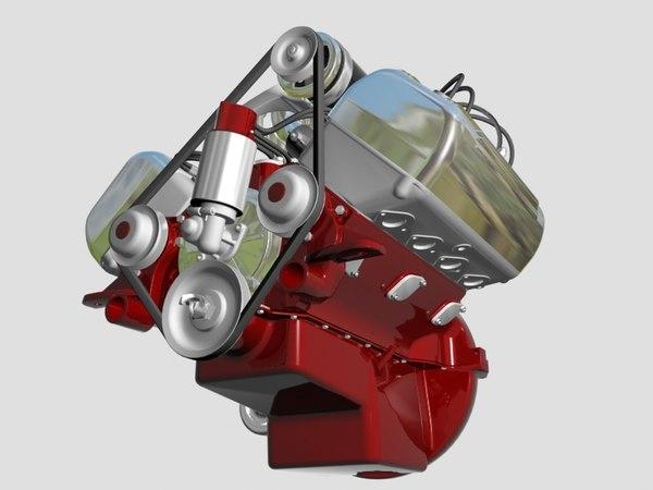 3d ardun flathead v8 engine model. Black Bedroom Furniture Sets. Home Design Ideas