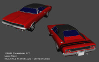 3d 1968 charger r t