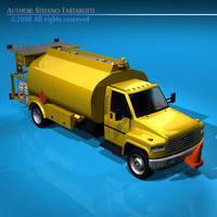 aviation fuel truck 3d c4d