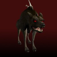 3ds max hellhound demon rigged