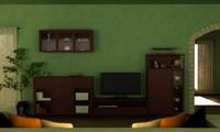 3d interior set model