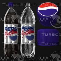 3d pepsi bottle model